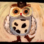 This Funky Junky Cowboy Owl Painting