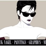 This Print Hangs Office Silver Sunglasses Patrick Nagel