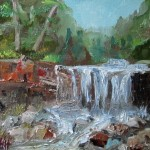 This Waterfall Painting Warm For Larger That Will