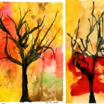 This Wonderful Spooky Tree Art Project For Bookmarking