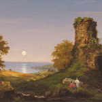 Thomas Cole Painting Tower Moonlight