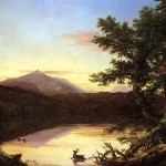 Thomas Cole Paintings Schroon Lake Painting