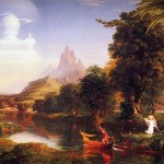 Thomas Cole Paintings The Voyage Life Youth Painting