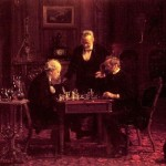 Thomas Eakins Paintings The Chess Players Painting