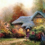 Thomas Kinkade Art Christmas Cottage Holiday House