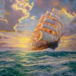 Thomas Kinkade Courageous Voyage Painting Framed Paintings For Sale