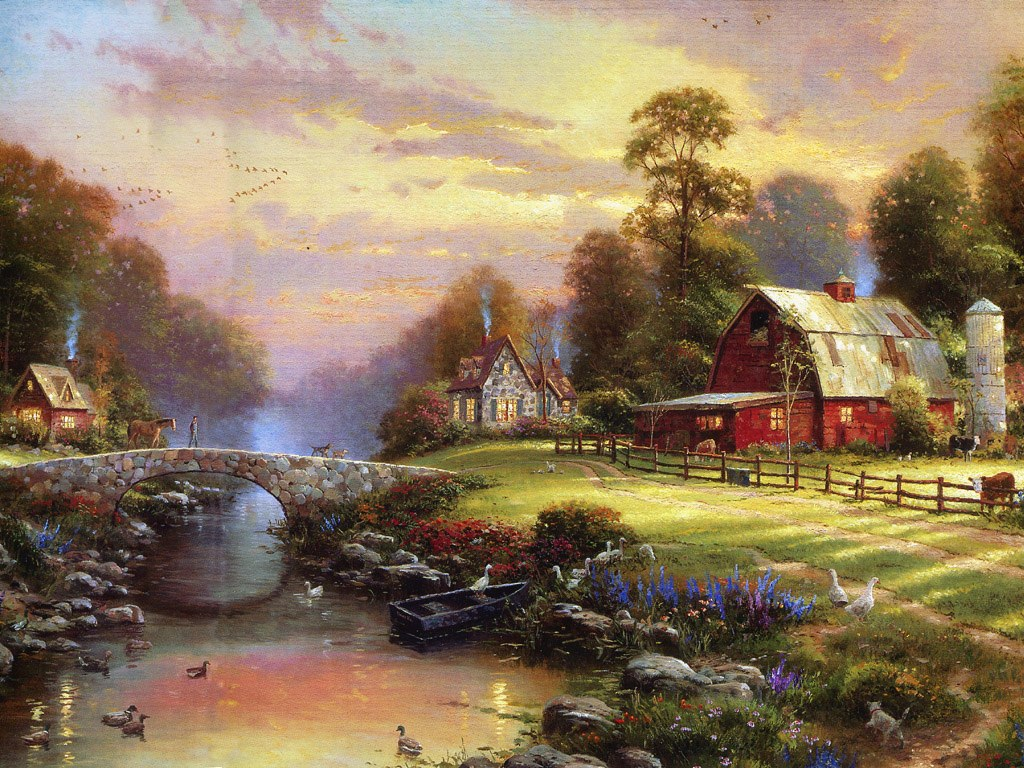 Thomas Kinkade Oil Painting Welcome Gallery