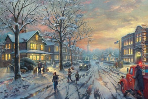 Thomas Kinkade Paintings Christmas Story Painting