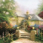 Thomas Kinkade Paintings Hollyhock House Painting