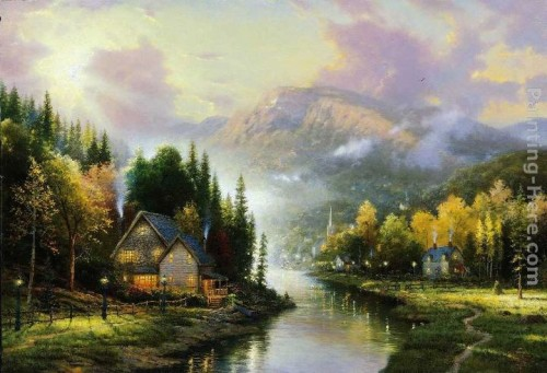 Thomas Kinkade Paintings Simpler Times Painting