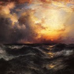 Thomas Moran Sunset Mid Ocean Painting Anysize Off
