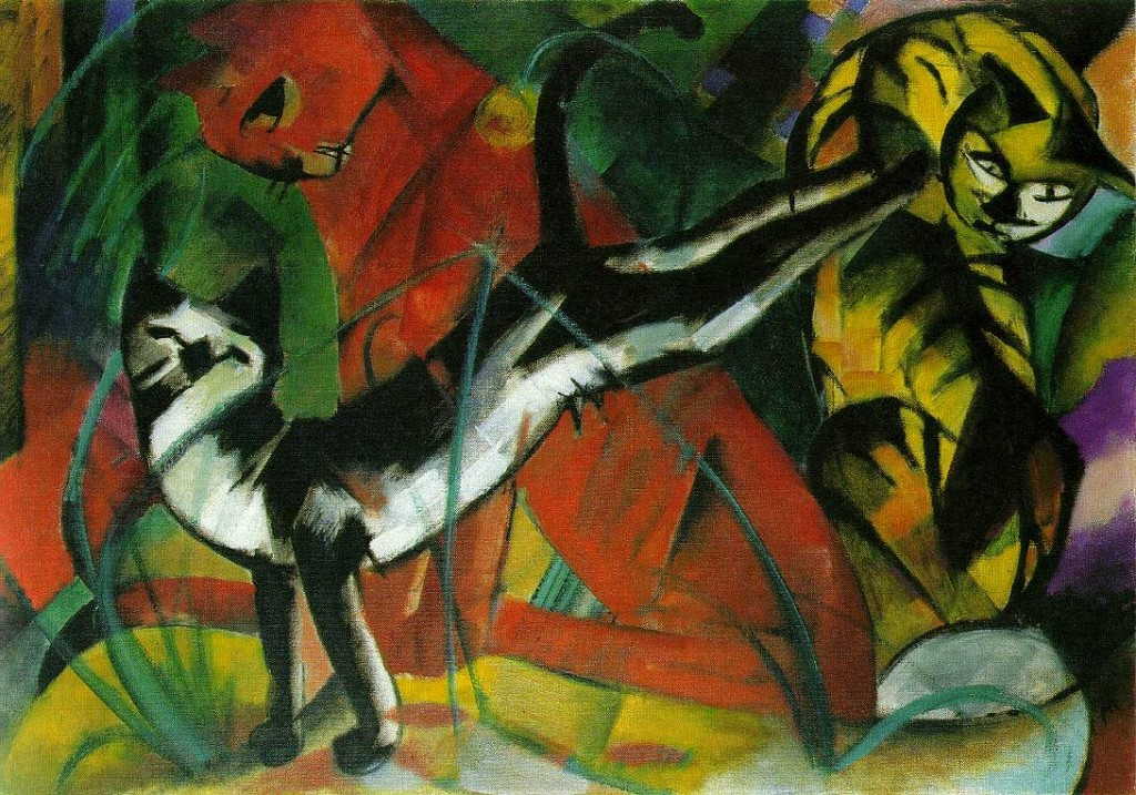 Three Cats Franz Marc Wikipaintings
