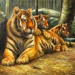 Tiger Oil Painting Decoration Paintings
