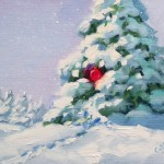 Tom Brown Fine Art Christmas Painting Small Works Sale