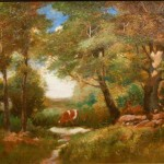 Tonalist Landscape Cow From Clean Oil Painting Ruby Lane