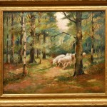 Tonalist Oil Painting Sheep From Clean Ruby Lane