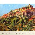 Tony Bennett Painting South France Print