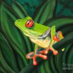 Tree Frog Painting Marty Calabrese Tropical Fine Art