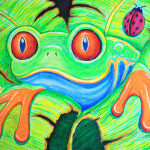 Tree Frog Painting Watching You Red Eyed Fine Art Print