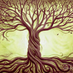 Tree Life Painting Renee Womack Green Fine Art