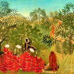 Tropical Jungle Henri Rousseau Painting