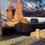 Umberto Boccioni Oil Painting Gallery Canvas For Sale