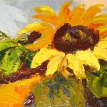 Unknown Artist Sunflower Painting