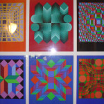 Untitled Serigraph Prints Victor Vasarely Limited Edition Print