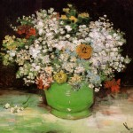 Van Gogh Paintings Vase Zinnias And Other Flowers