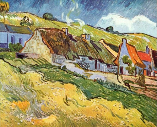 Van Gogh Paintings Vincent Farmer Huts Auvers Painting