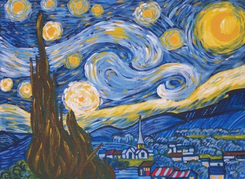 Van Gogh Starry Night Acrylic Painting Kit Vincent
