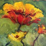 Van Gogh Yellow Poppies Contemporary Floral Paintings Arizona