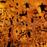Variety Cave Paintings And Primitive Art Depicting People Animals