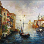 Venice Oil Painting Paintings Cities