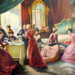 Victorian Social Gathering Unknown