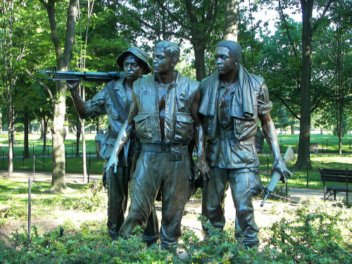 Vietnam War Memorial Statue Glass Art Daniel Hebard