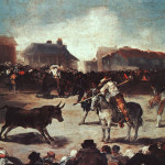 Village Bullfight Francisco Goya Paintings Art Picture