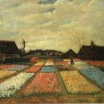 Vincent Van Gogh Flower Beds Holland Painting