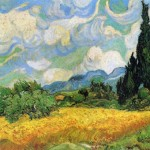 Vincent Van Gogh Wheat Field Cypresses The Haude Galline Near