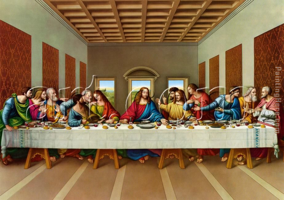Vinci Leonardo The Picture Last Supper Painting