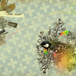 Vintage Abstract Art Collage Dream Graphy Retro