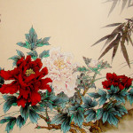 Vintage Painting Red Pink Peony Flowers Flickr
