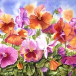 Watercolor And Oil Paintings Flower Painting