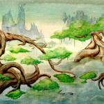 Watercolor Landscape Werwolfboy Traditional Art Paintings