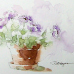 Watercolor Paintings Roseann Hayes Painting Flowers
