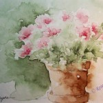 Watercolor Paintings Roseann Hayes Painting Pink