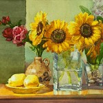 Watercolor Paintings Sunflowers Designs Wiki All About