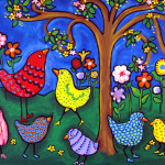 Whimsical Birds Painting Fine Art Print