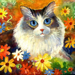 Whimsical Cat Paintings For Web Search