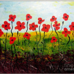 Whimsical Flower Painting Daniela Fodor Fine Art